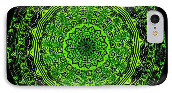 Kaleidoscope Of Glowing Circuit Board Phone Case by Amy Cicconi