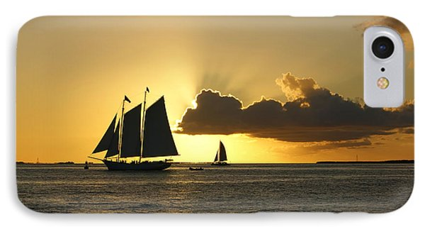 IPhone Case featuring the photograph Key West Sunset by Olga Hamilton