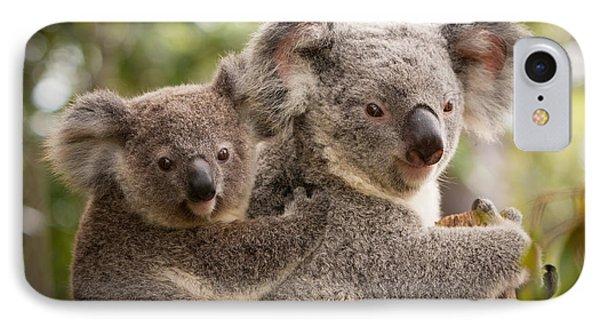 Koala And Joey IPhone Case by Craig Dingle
