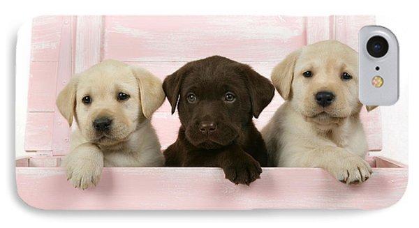 Labrador Retriever Puppies Phone Case by John Daniels