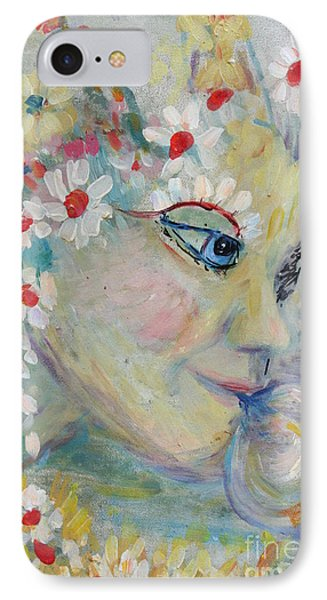 IPhone Case featuring the painting Lady In The Waterfall by Avonelle Kelsey