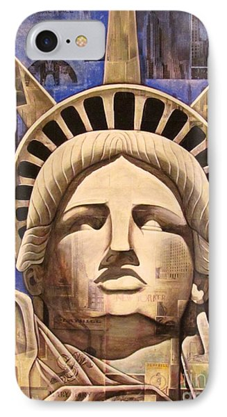 Lady Liberty Phone Case by Joseph Sonday