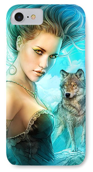 Lady Wolf Phone Case by Shannon Maer
