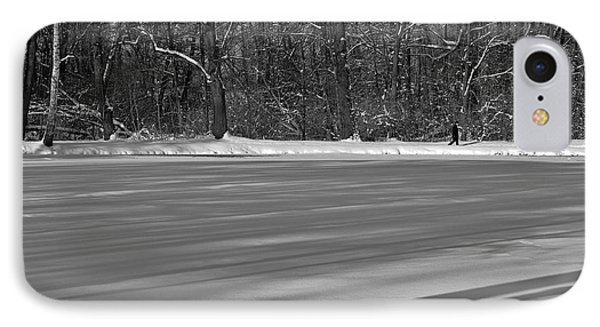 Lake Under Snow IPhone Case by Dariusz Gudowicz