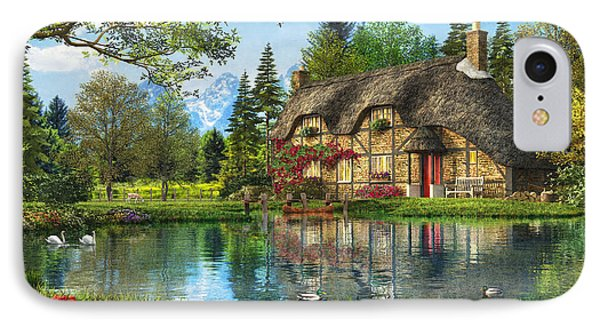 Lake View Cottage IPhone Case by Dominic Davison