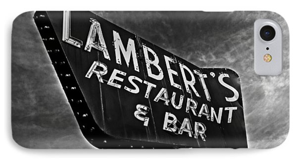 IPhone Case featuring the photograph Lambert's Restaurant And Bar by Andy Crawford