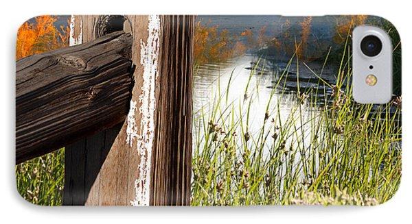 Landscape With Fence Pole IPhone Case by Gunter Nezhoda