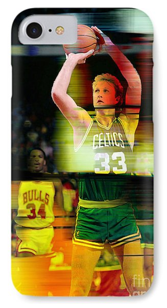 Larry Bird IPhone 7 Case by Marvin Blaine