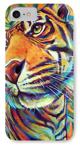 IPhone Case featuring the painting Le Tigre by Robert Phelps