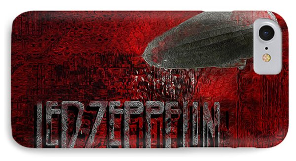 Led Zeppelin IPhone Case by Jack Zulli
