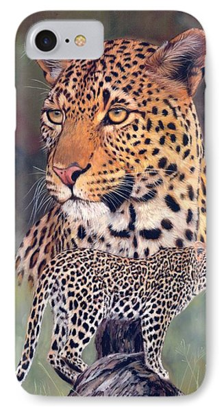 Leopard IPhone Case by David Stribbling