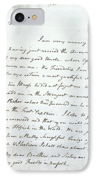 Letter Of Lord Nelson IPhone Case by British Library