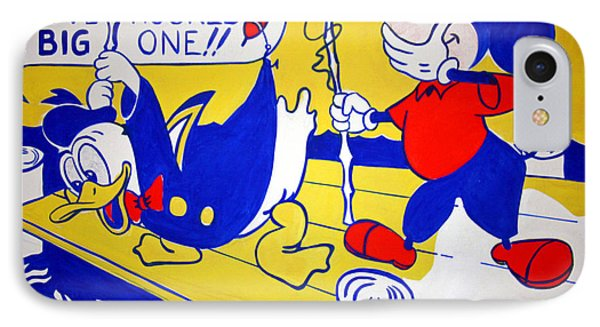 IPhone Case featuring the photograph Lichtenstein's Look Mickey by Cora Wandel