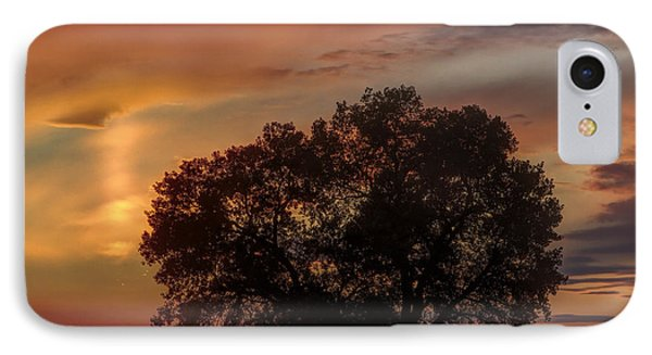 IPhone Case featuring the photograph Light Pillar And Cottonwood by Rob Graham
