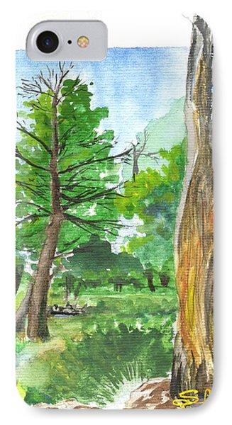 Lightening Strike Tree IPhone Case by Sherril Porter
