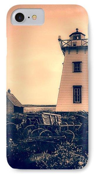 Lighthouse Prince Edward Island IPhone Case by Edward Fielding
