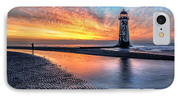 Lighthouse Sunset IPhone Case by Adrian Evans