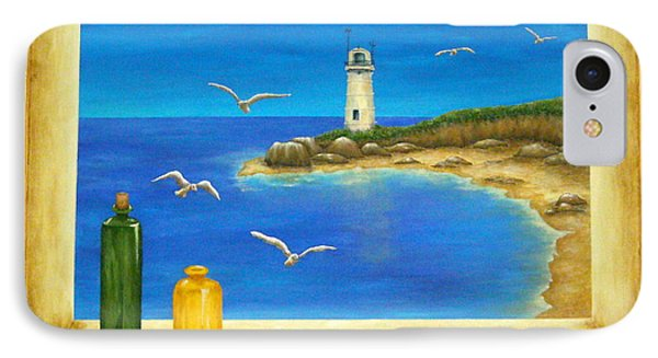 Lighthouse View IPhone Case by Pamela Allegretto