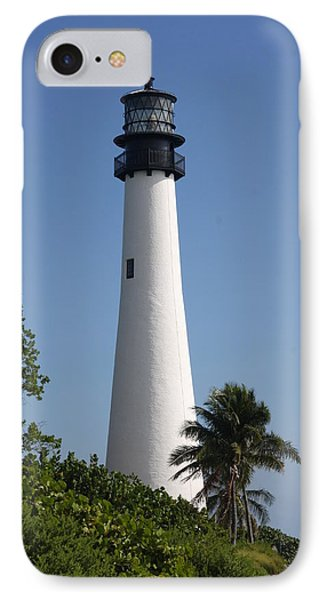 Ligthouse - Key Biscayne IPhone Case by Christiane Schulze Art And Photography