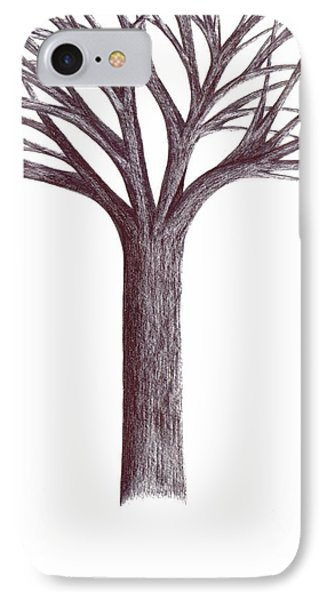 IPhone Case featuring the drawing Second-generation....tree Without Roots by Giuseppe Epifani