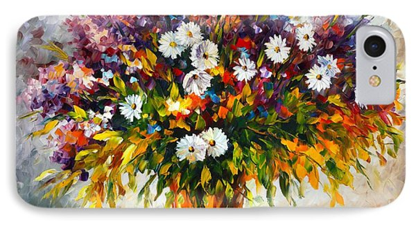 Lilac And Camomiles Phone Case by Leonid Afremov