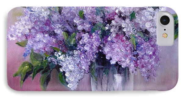 IPhone Case featuring the painting Lilac by Nina Mitkova