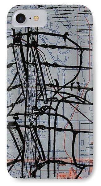 Lines And Birds IPhone Case