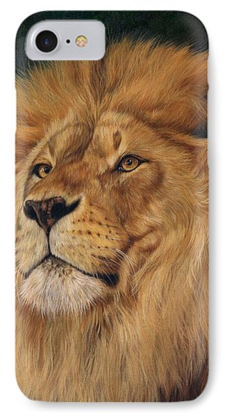 Lion IPhone Case by David Stribbling