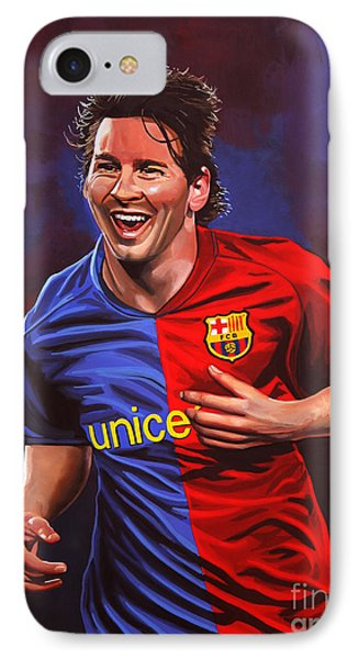 Barcelona iPhone 7 Case - Lionel Messi  by Paul Meijering