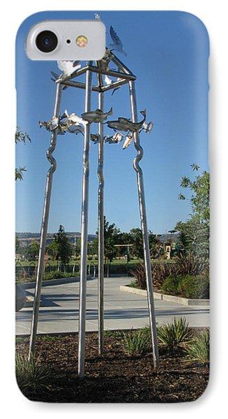 Little Chico Creek Sculpture Phone Case by Peter Piatt