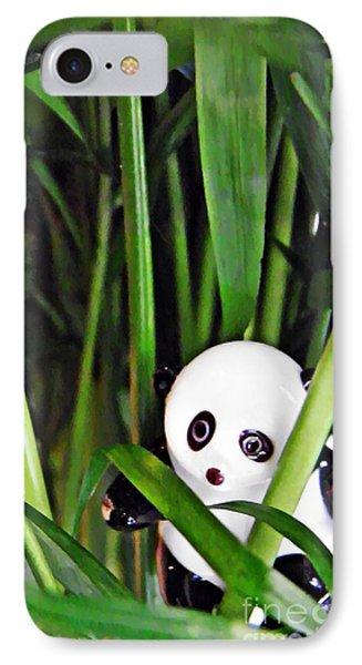 Little Glass Pandas 59 IPhone Case by Sarah Loft