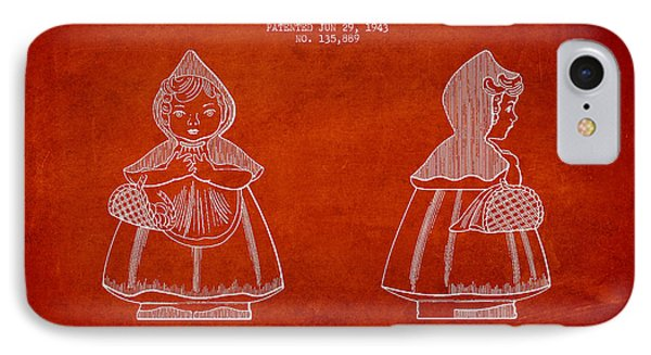 Little Red Riding Hood Patent Drawing From 1943 IPhone Case by Aged Pixel
