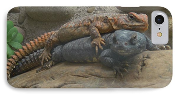 IPhone Case featuring the photograph Lizard Love by Carla Carson