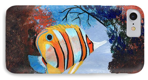 Longnose Butterfly Fish IPhone Case