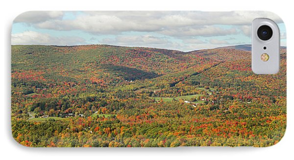 Looking Out Over The Autumn Landscape Phone Case by Susan Pease