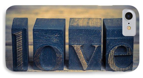 Love In Printing Blocks IPhone Case