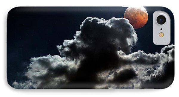 Lunar Eclipse IPhone Case by Detlev Van Ravenswaay