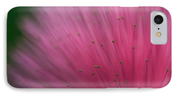 Macro Photograph Of A Calliandra Flower IPhone Case