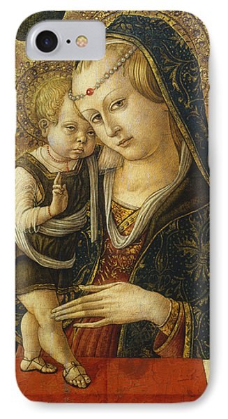 Madonna And Child IPhone Case by Carlo Crivelli