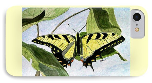 IPhone Case featuring the painting Male Eastern Tiger Swallowtail by Angela Davies