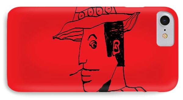IPhone Case featuring the drawing Man From Buenos Aires by Don Koester