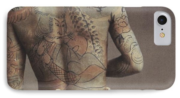 Man With Traditional Japanese Irezumi Tattoo Phone Case by Japanese Photographer