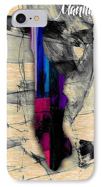 Manhattan Map Watercolor IPhone Case by Marvin Blaine