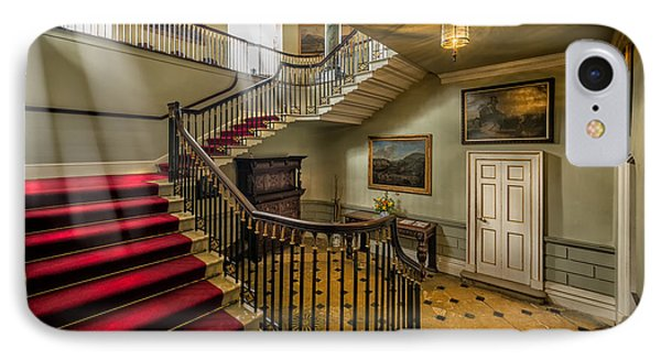 Mansion Stairway IPhone Case by Adrian Evans
