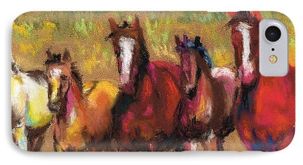 Mares And Foals IPhone Case by Frances Marino