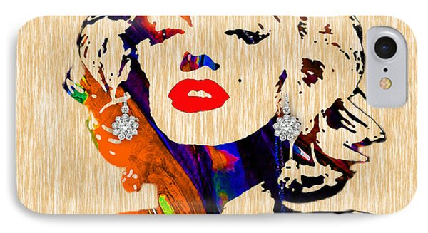 Marilyn Monroe Diamond Earring Collection IPhone Case by Marvin Blaine