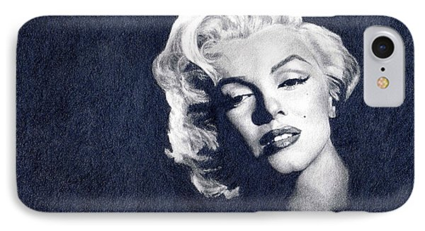 Marilyn Monroe IPhone Case by Erin Mathis