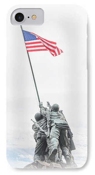 Marine Corps War Memorial IPhone Case by Roger Clifford