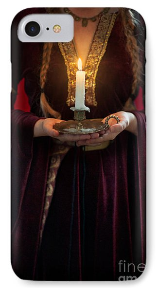 Medieval Woman Holding A Candle IPhone Case