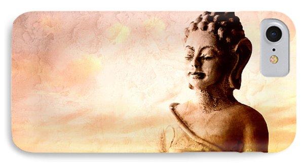 Meditating Buddha IPhone Case by Charline Xia